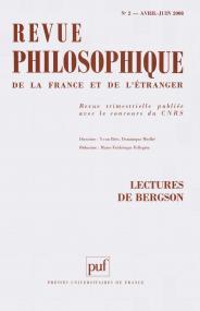 Revue philosophique 2008, t. 133 (2)