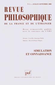 Revue philosophique 2008, t. 133 (3)