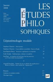 études philosophiques 2008, n° 1