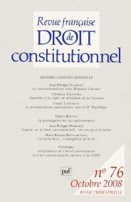 RFDC 2008, n° 76