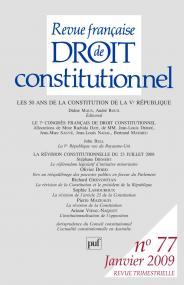 RFDC 2009, n° 77