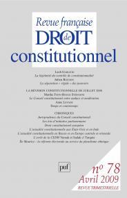 RFDC 2009, n° 78