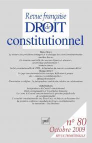 RFDC 2009, n° 80