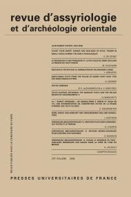 Rev. d'assyrio. et d'archéo. orient. 2009, vol. 103