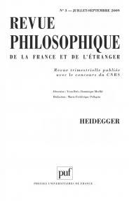 Revue philosophique 2009, t. 134 (3)