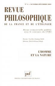 Revue philosophique 2009, t. 134 (4)