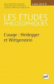études philosophiques 2010, n° 3