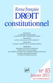 RFDC 2011, n° 85