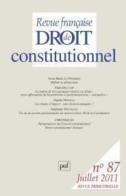 RFDC 2011, n° 87