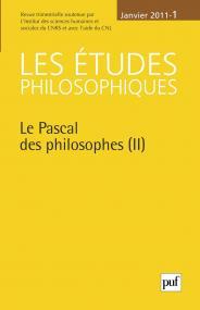 études philosophiques 2011, n° 1