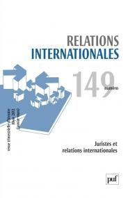 Relations internationales 2012, n° 149