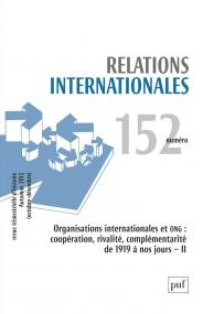 Relations internationales 2012, n° 152