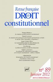 RFDC 2012, n° 89