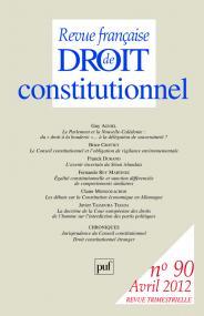RFDC 2012, n° 90