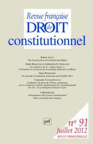 RFDC 2012, n° 91