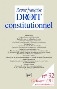 RFDC 2012, n° 92