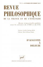 Revue philosophique 2012, t. 137 (4)
