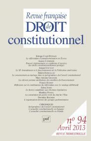 RFDC 2013, n° 94