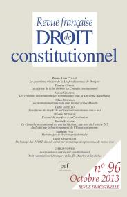 RFDC 2013, n° 96
