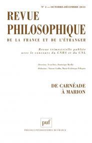 Revue philosophique 2013, t. 138 (4)