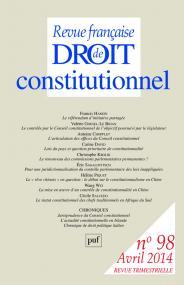 RFDC 2014, n° 98