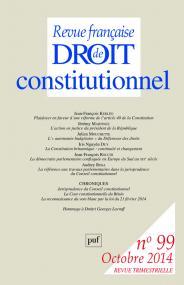 RFDC 2014, n° 99
