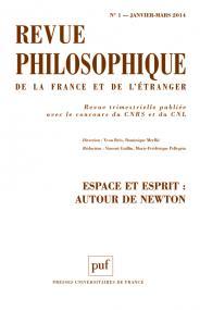 Revue philosophique 2014, t. 139 (1)