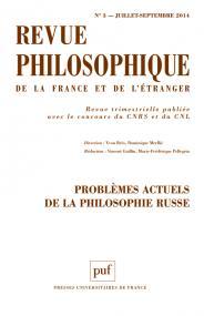 Revue philosophique 2014, t. 139 (3)