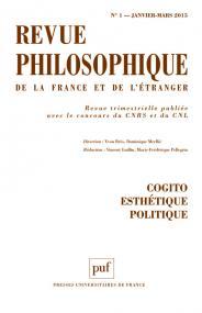 Revue philosophique 2015, t. 140 (1)