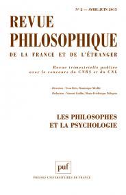 Revue philosophique 2015, t. 140 (2)