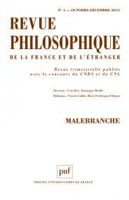 Revue philosophique 2015, t. 140 (4)