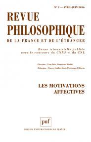 Revue philosophique 2016, t. 141 (2)