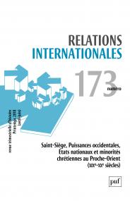 Relations internationales 2018, n° 173