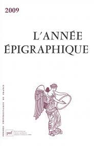 année épigraphique vol. 2009