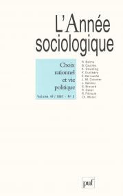 année sociologique 1995, vol. 45 (1)