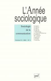 année sociologique 2001, vol. 51 (2)