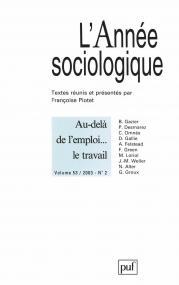 année sociologique 2003, vol. 53 (2)