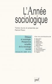 année sociologique 2004, vol. 54 (2)