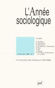 année sociologique 2006, vol. 56 (1)