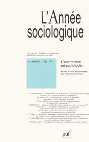 année sociologique 2006, vol. 56 (2)