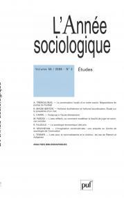 année sociologique 2008, vol. 58 (2)