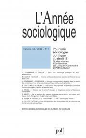 année sociologique 2009, vol. 59 (1)