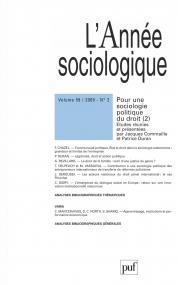 année sociologique 2009, vol. 59 (2)