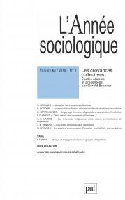 année sociologique 2010, vol. 60 (1)