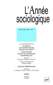 année sociologique 2014, vol. 64 (1)
