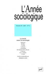 année sociologique 2017, vol. 67 (2)
