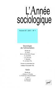 année sociologique 2017, vol. 67 (1)