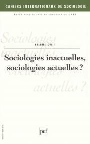 Cahiers intern. de sociologie 2000, vol. 108