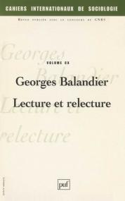 Cahiers intern. de sociologie 2001, vol. 110