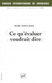 Cahiers intern. de sociologie 2010, vol. 128/129